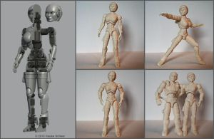 3D printed super articulated female android by hauke3000