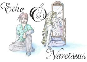 Echo and Narcissus by Botan101