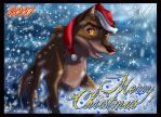 Balto Christmas Card by SilverDeni