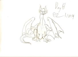 Day 8: Dragon Body Front View by Ezekeil42