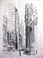 pen drawing street view by wwei