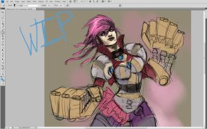 Vi WIP by Kerozzart