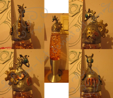 A Very Steam Powered Giraffe Lavalamp by Emmi-Kat