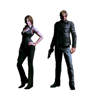 Resident Evil 6 - Helena and Leon by IvanCEs
