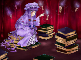 Midnight's Library of Magic by watermelon-clock
