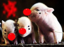 Swine Clowns by superlisamcb