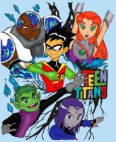 Teen Titans by ayeshoo123