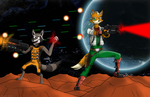 Star Fox and Space Raccoon by JDE10