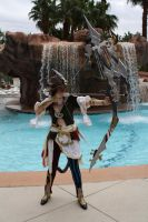 FFXIV Fan Fest Cosplay Contest Miqo'te Bard 1 by sashafelicity