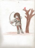 Chibi Katniss Everdeen by veronicle