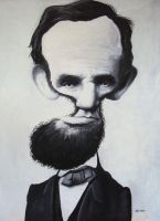 Abraham Lincoln oil by manohead