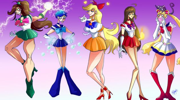 Sailor Scouts Ohmygosh by Buuya