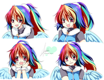 [MLP]RainbowDash -Facial Expression by SakuranoRuu