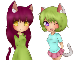 nyan neko sugar girls by xFireflowers