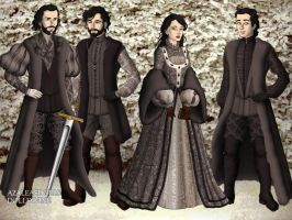 Brandon, Ned, Lyanna and Benjen by SingerofIceandFire