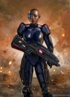 The FemShep Renegade by SirTiefling