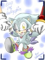 Gift: Ecco the Hedgephin by mino-the-cat
