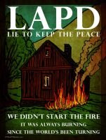 LAPD burned down Dorner Cabin and Lied About it by HalHefnerART
