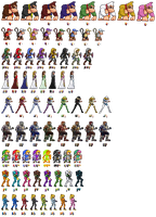 2nd Row of SSB4 Characters + Palettes by Lisnovski