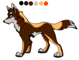 awesome wolf character adoptable - SOLD! by StanHoneyThief