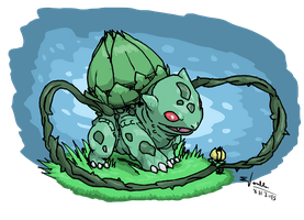 Pokedex Entry: #001 Bulbasaur by absoluteweapon