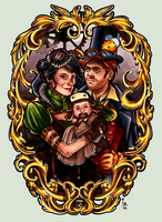 Steampunk Family. by cam-miyu