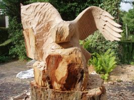 eagle in progress 3 by woodcarve