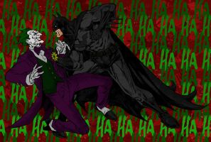 Batman vs Joker by jmascia