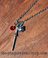 Philosopher's Stone necklace by kittykat01