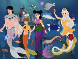 Jack Miko And Raf  And My Oc Yumi As Mermaids by Winry88