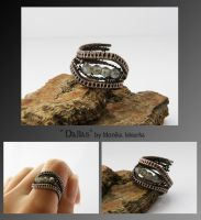 Dallas- wire wrapped ring by mea00