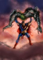 Superman vs. Doomsday by DragonArcher