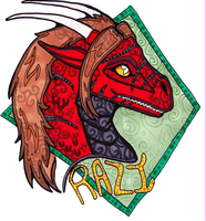 $10 Stained Glass Style Badge: Razi by talakestreal