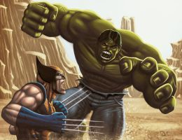 Hulk vs Wolverine by DAVID-OCAMPO