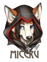 Miccru Badge Commission by GoldenDruid