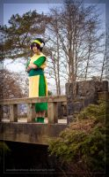 Toph upon the bridge by Weatherstone