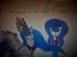 Princess Luna Human And PMV by bfforever48