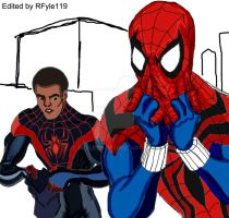Miles Morales and Peter Parker (Ben Reilly) colour by RFyle119