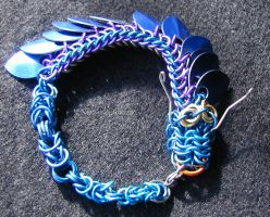 Handcrafted Chain Mail Scale Dragon Bracelet by chainmailmd