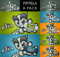 PSP Fella Wallpaper 8-pack by Mrichston
