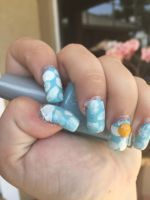 Suns out nail art by Nightmaremoon108