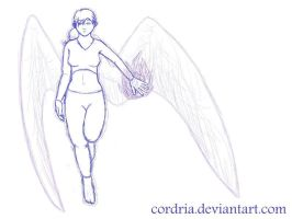 .:Sketch:. Angel by cordria