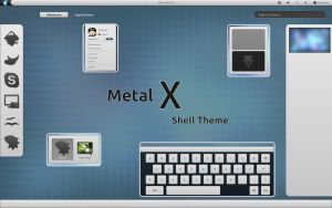 MetalX theme v.2.0 for Gnome 3.10 by CAI79