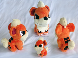 Growlithe Pokedoll by xBrittneyJane