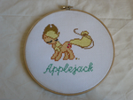 Applejack Cross Stitch by sparklepeep