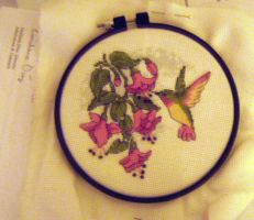 Hummingbird Cross Stitch by ScintillaOfEternity