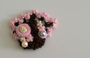 Crochet Brooch- Takara by CharityK