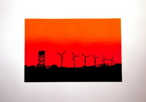 Industrial sunset by xiffy