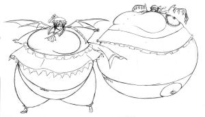remilia and flandre inflated by shydude