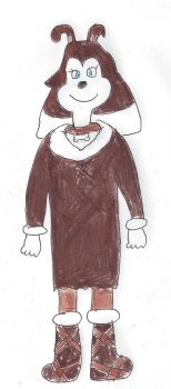 Colleen dressed in prehistoric ice age clothing by dth1971